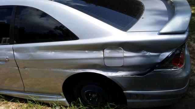 2002 honda civic lx coupe rear quarter panel repair honda. Black Bedroom Furniture Sets. Home Design Ideas
